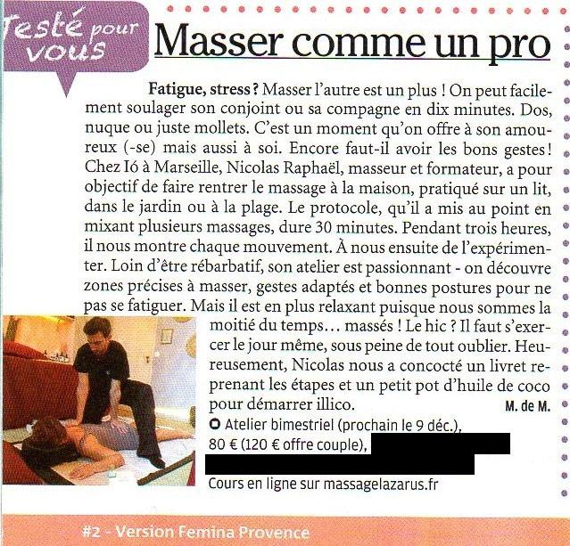 atelier de massage bien-être