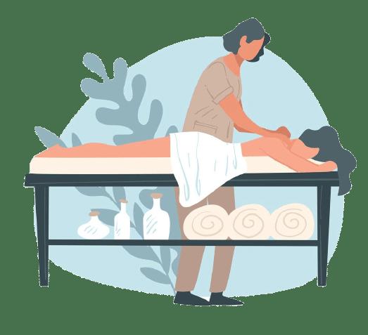 illustration massage lazarus