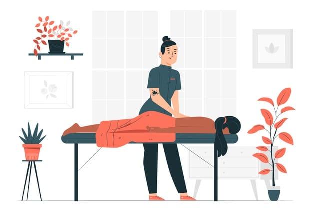 massage bien-être sur table